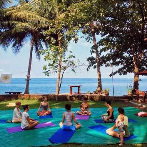 Семейный лагерь Зима под пальмой в Азии