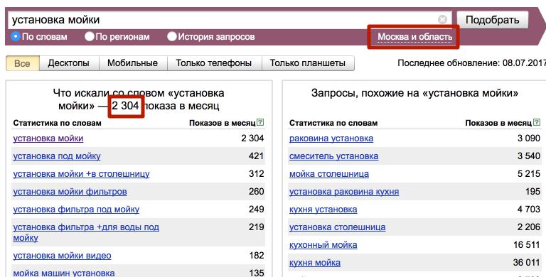 Проверка частоты запроса в Яндекс Вордстат
