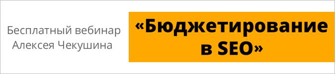 Как оценить стоимость вашего SEO? Смотрите запись вебинара Алексея Чекушина