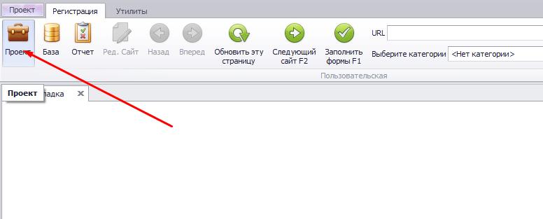 редактирование проекта во время полуавтоматической регистрации в Allsubmitter